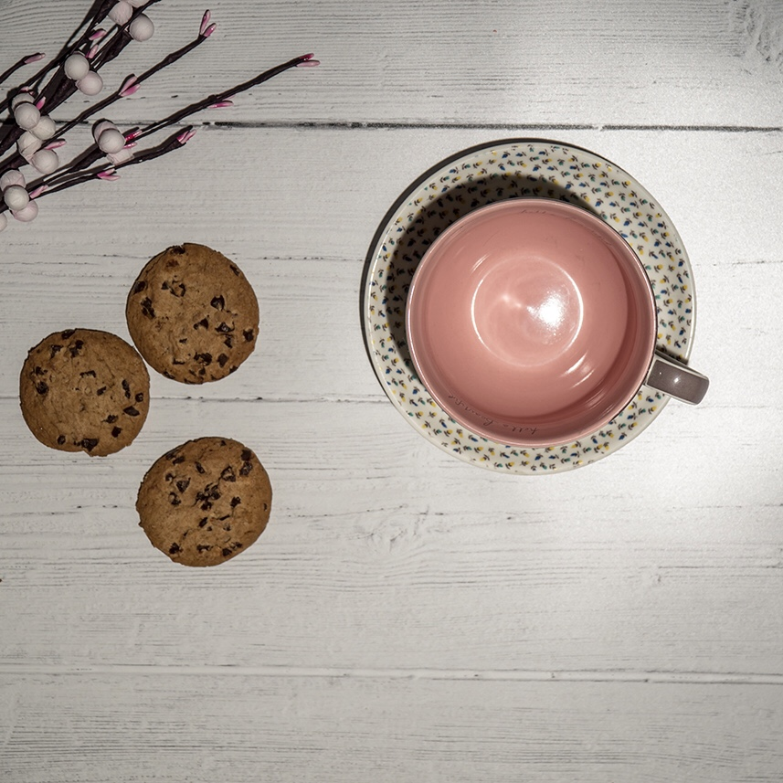 Self care - take some me-time to enjoy a quiet cuppa and some cookies